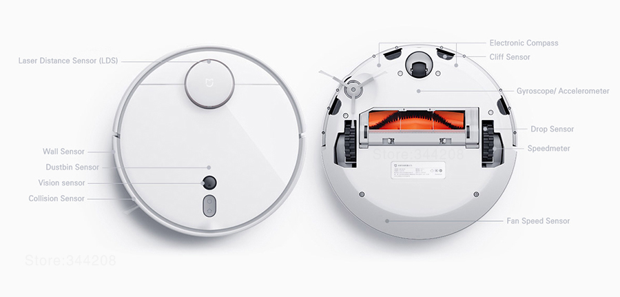 Робот-пылесос Xiaomi Mi Robot Vacuum Cleaner 1S NEW