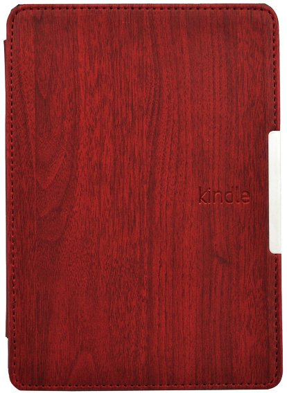 Обложка Wood Style Flip Red для Kindle Paperwhite 3 (2015)