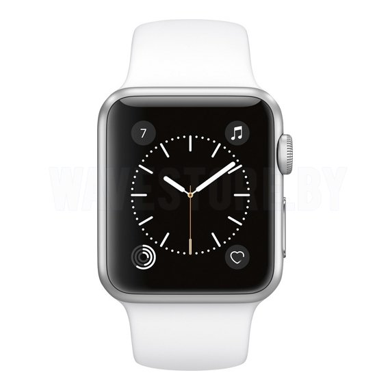 Умные часы Apple Watch Series 1 38mm Silver with White Sport Band (MNNG2)