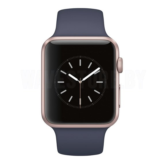 Умные часы Apple Watch Series 1 42mm Rose Gold with Midnight Blue Sport Band (MNNM2)