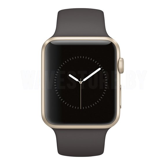 Умные часы Apple Watch Series 1 42mm Gold with Cocoa Sport Band (MNNN2)