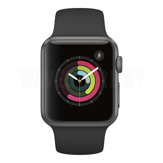 Умные часы Apple Watch Series 1 38mm Space Gray with Black Sport Band (MP022)