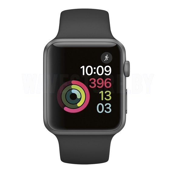 Умные часы Apple Watch Series 1 42mm Space Gray with Black Sport Band (MP032)