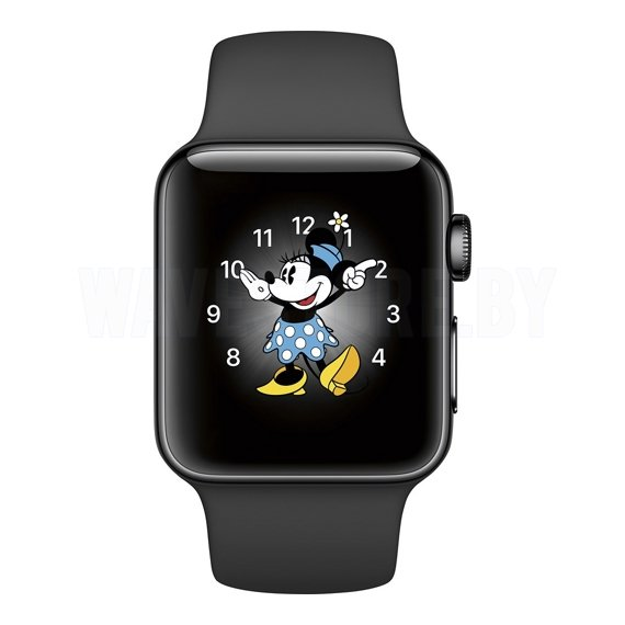 Умные часы Apple Watch Series 2 38mm Space Black Stainless Steel with Black Sport Band (MP492)