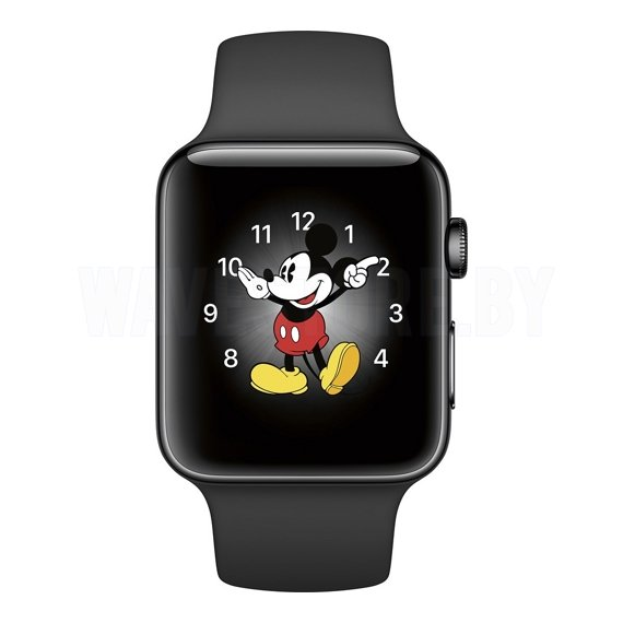 Умные часы Apple Watch Series 2 42mm Space Black Stainless Steel with Black Sport Band (MP4A2)
