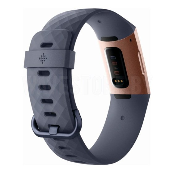 Умный браслет Fitbit Charge 3 (Blue Gray/Rose Gold)