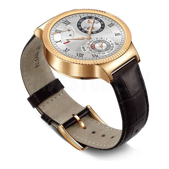 Умные часы Huawei Watch Classic (Gold/Brown Leather)